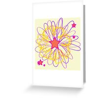Starry Nights-Star Blossom Greeting Card