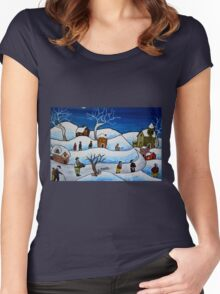 Christmas night Women's Fitted Scoop T-Shirt