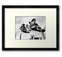 Monty In A Tank Framed Print