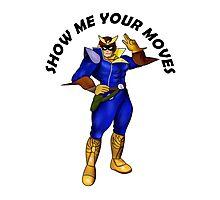Captain Falcon F Zero Super Smash Bros Melee Design Photographic Print