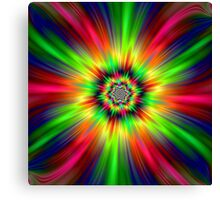 Psychedelic Star Burst Canvas Print
