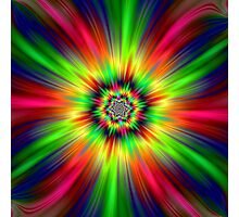 Psychedelic Star Burst Photographic Print
