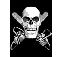 Skull and Chainsaws Photographic Print