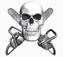 Skull and Chainsaws by dxf1969