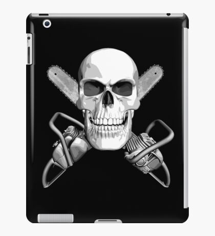 Skull and Chainsaws iPad Case/Skin