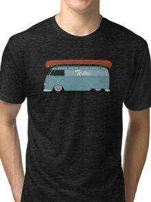 Slammed VW Barndoor (Half sign writing) Tri-blend T-Shirt