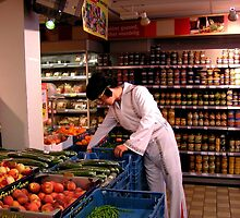 Full colour Elvis in Supermarket by patjila