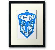 Bigger on the inside Framed Print