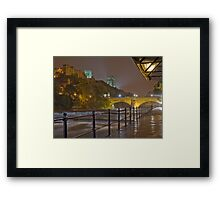 Durham Cathedral and Castle from the RIverside at night Framed Print