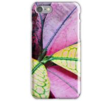 Colorful Abstract Botantical Leaves iPhone Case/Skin