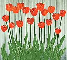 Orange Tulips by Janet Carlson