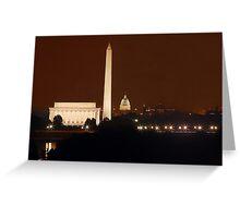 Washington DC - Monuments Greeting Card