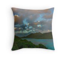 Mary Point Dawn - St. John, USVI Throw Pillow