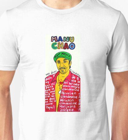 Manu Chao Reggae Ska Pop Folk Art Unisex T-Shirt