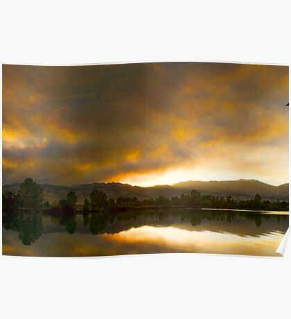 Coot  Lake Sunset Boulder County Colorado Poster