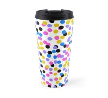 Polka dot print in random blue, black, yellow colors Travel Mug