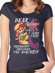"""Friend """"ship"""" is magic! Women's Fitted Scoop T-Shirt"""