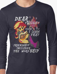 "Friend ""ship"" is magic! Long Sleeve T-Shirt"