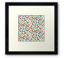Polka dot print in natural fall colors Framed Print