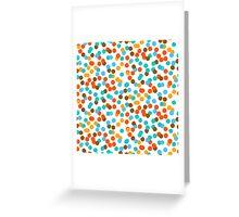 Polka dot print in natural fall colors Greeting Card