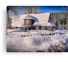 Sunny day after a snow storm  Canvas Print