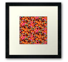 Polka dot print in bright fall colors colors Framed Print