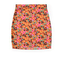 Polka dot print in bright fall colors colors Mini Skirt