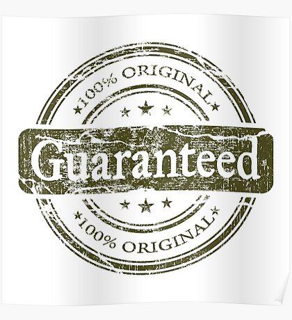 Guaranteed - 100% Original Poster
