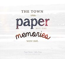 The town was paper but the memories were not paper towns john green cara delevingne nat wolf by madebydidi