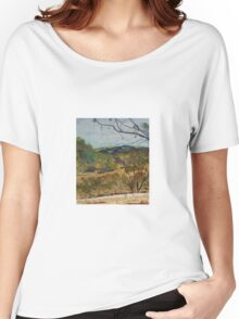 View from Horan's Track (watercolour) in the Murchison Gap Victoria Australia Women's Relaxed Fit T-Shirt