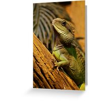 Oriental Water Dragon Greeting Card