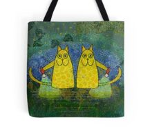 AMERICAN CATS WITH FLASHLIGHTS Tote Bag