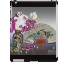 Asian still life with orchids iPad Case/Skin