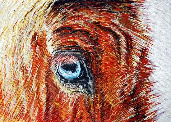 Blue-eyed Blonde - Belgian Draft Horse by jlkinsey
