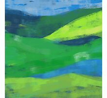 Blue loves green Photographic Print
