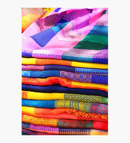 Mayan Blankets for Sale Photographic Print