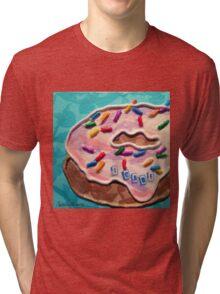I DONUT Care For Pink Frosting Tri-blend T-Shirt