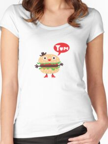 Cheeseburger yum Women's Fitted Scoop T-Shirt