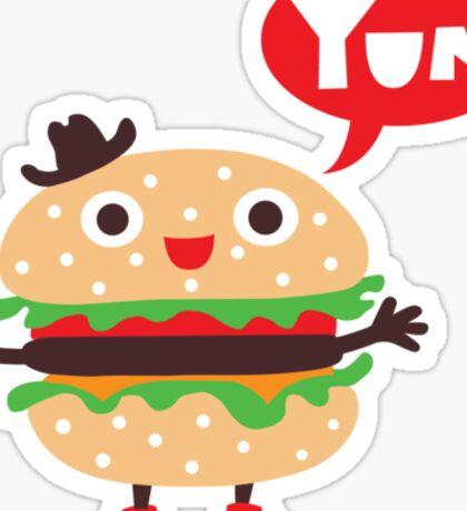 Cheeseburger yum Sticker