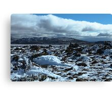 View on top of Mt Wellington Canvas Print