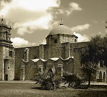 San Jose Mission in Sepia by Gordon  Beck