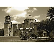 San Jose Mission in Sepia Photographic Print