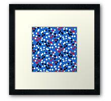 Festive confetti print in bright blue colors Framed Print