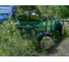 Retired Farm Wagon Photographic Print