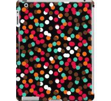 Festive confetti print in bright red black orange colors iPad Case/Skin