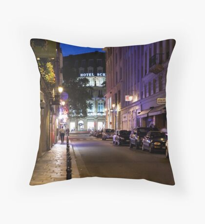 Rue Daunou Throw Pillow