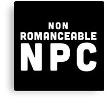 Non-Romanceable NPC Canvas Print