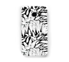 Tropical print in black and white with fern leaves Samsung Galaxy Case/Skin