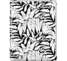 Tropical print in black and white with fern leaves iPad Case/Skin
