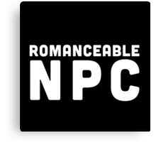 Romanceable NPC  Canvas Print